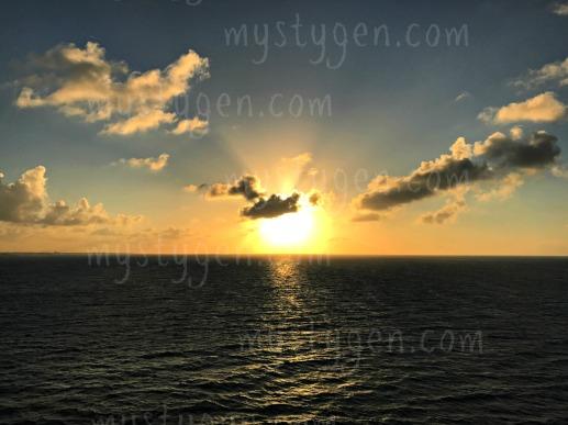 Sunset over the Bahamas
