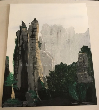 wild china scenery paiting